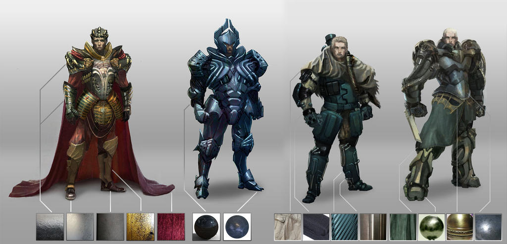 space opera character designs by silent rage on deviantart