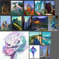 Oct 16 - Nov 16, 30 day, 100 pages Sketchbook #6