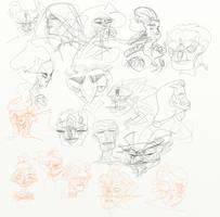 Oct 16 - Nov 16, 30 day, 100 pages Sketchbook #7