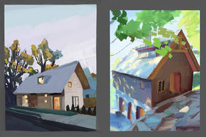 Study from photos, houses