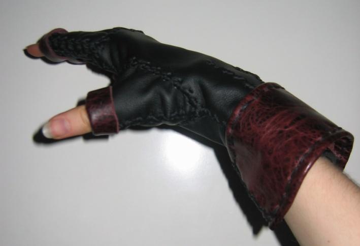 leather fingerless by wulvi