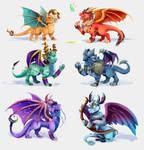 Young elder dragons