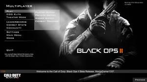 Black Ops II - Multiplayer Menu by MarijoGamer1337