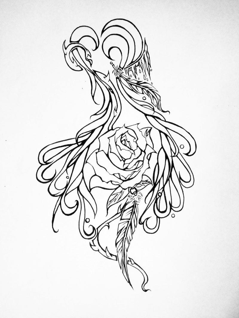 Pretty Heart Tattoo Designs Heart feather by imilla on deviantart