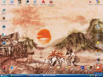 Okami desktop by Jingleboy