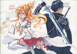 Asuna and Kirito by TaylorThiesArt