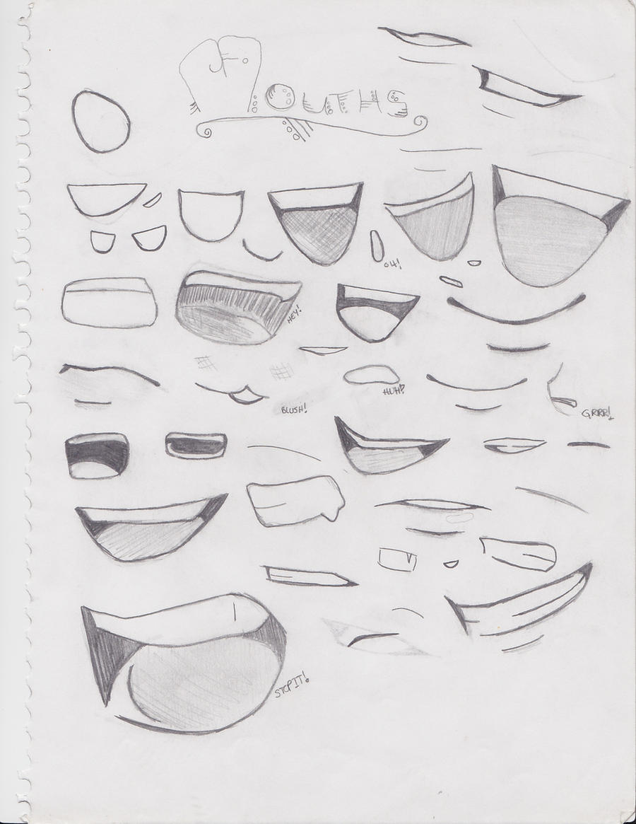 many mouths by nice4sweets on deviantart