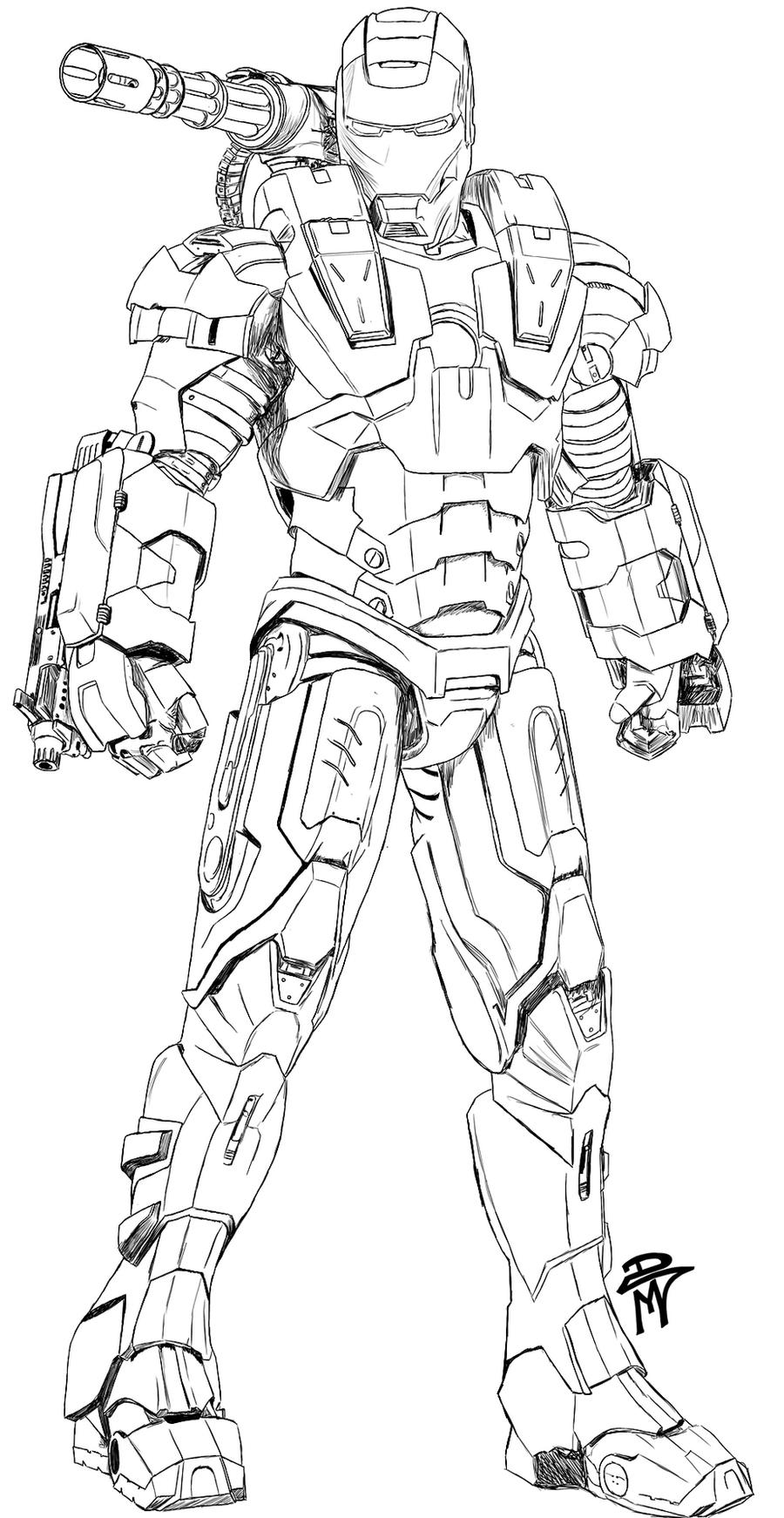 War Machine Free Colouring Pages
