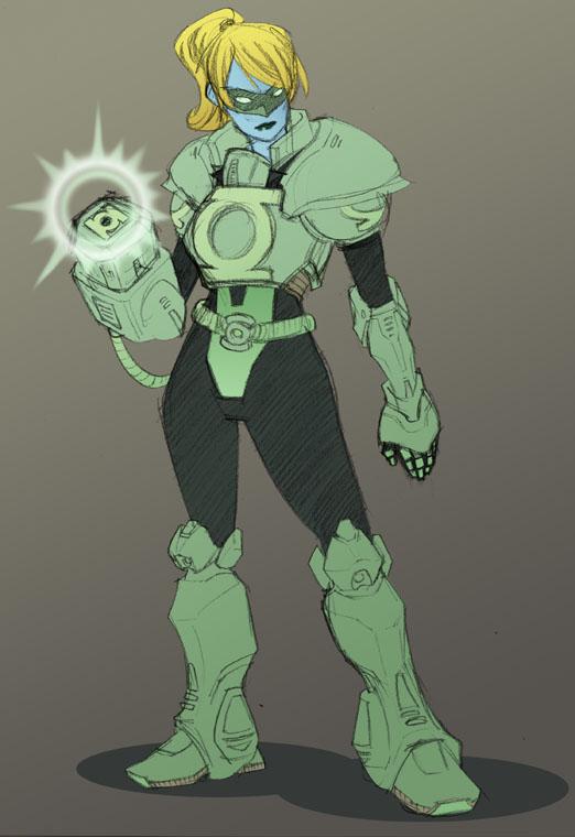 Green Lantern chick