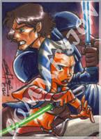 Commission - Anakin and Ahsoka by eisu
