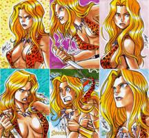 Sheena cards 3 by eisu