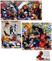Captain America Sketch Cards 5 by eisu