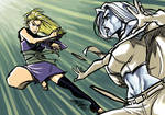 Daily Sketch: Hyakurin vs Emma Frost by eisu