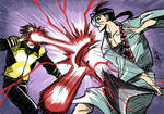Daily Sketch: Anotsu vs Cyclops by eisu