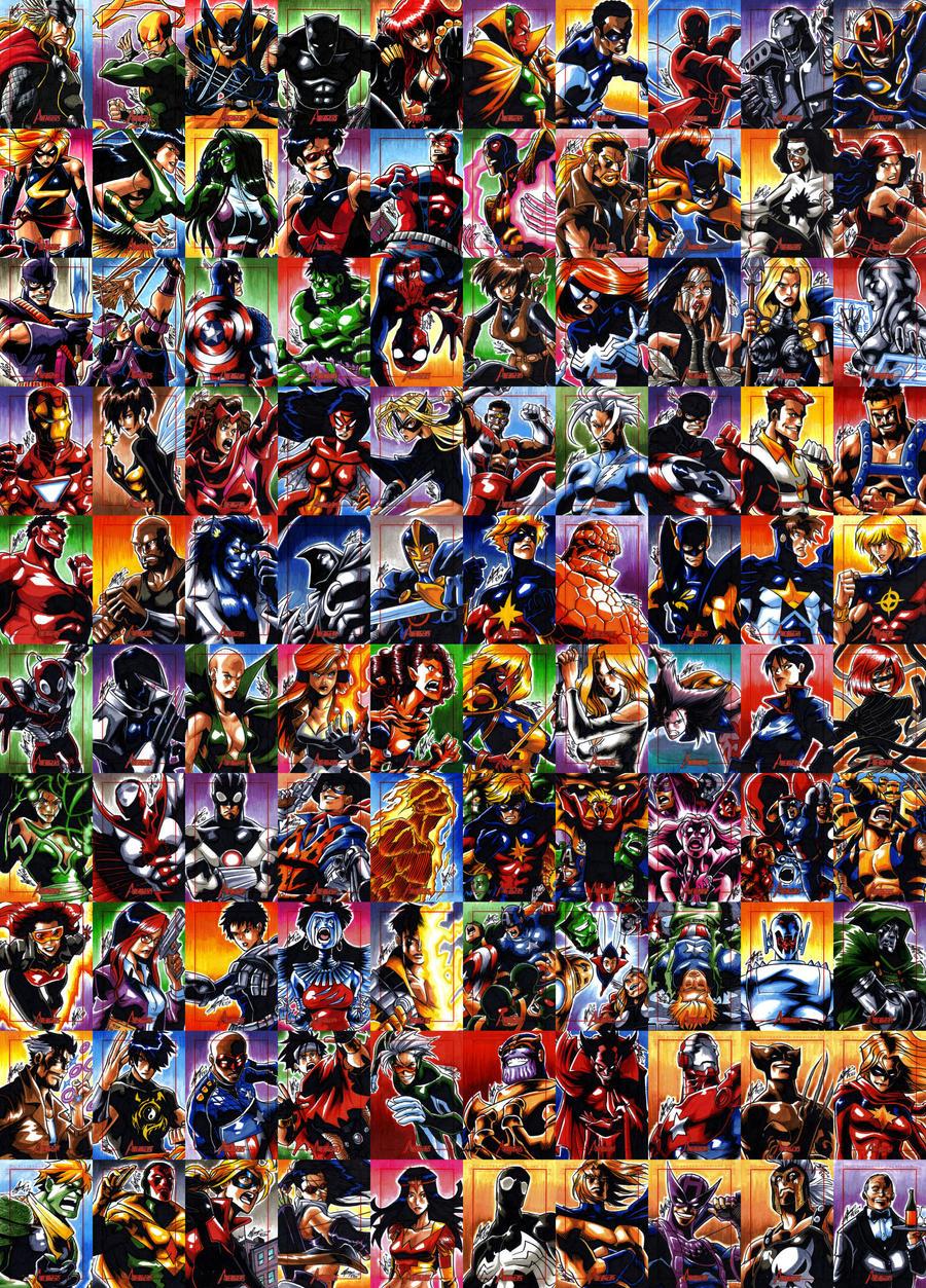 Marvel's Greatest Heroes - Full set by eisu on DeviantArt