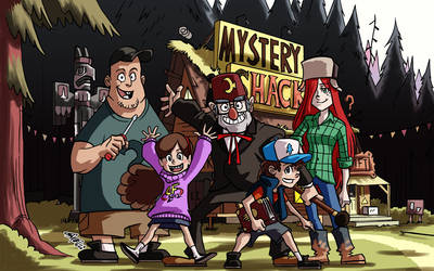 Gravity Falls group pic by eisu