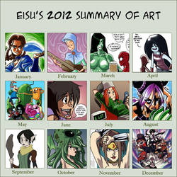 2012 Summary of art by eisu
