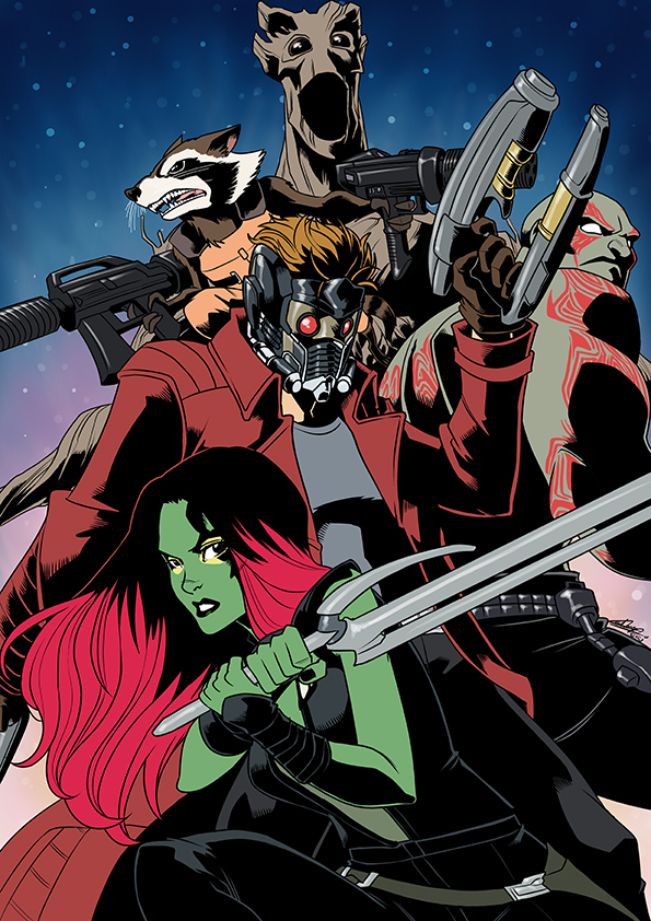 Guardians of the Galaxy by eisu