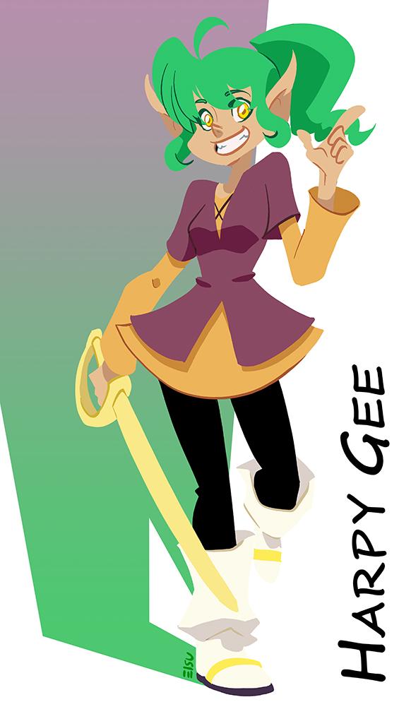 Harpy Gee by eisu