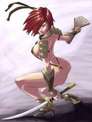 Bikini Samurai Gal by eisu