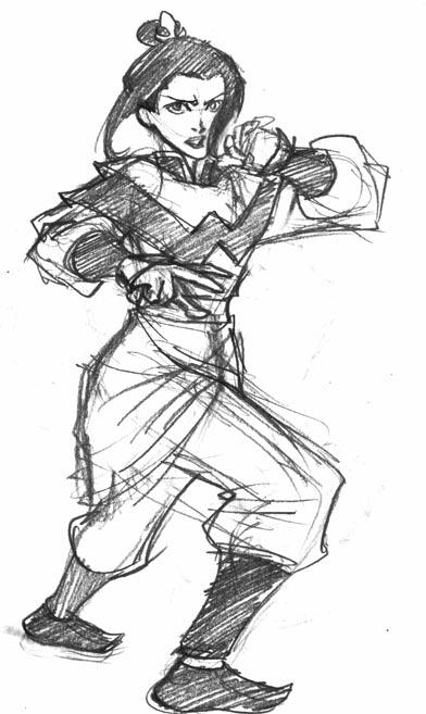 Avatar sketch - Azula by eisu