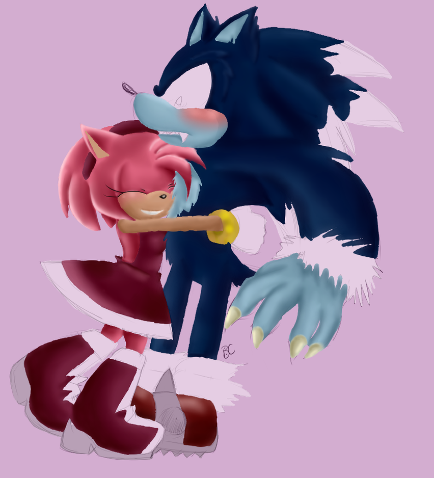 Amy And Werehog by RezFrosting on DeviantArt
