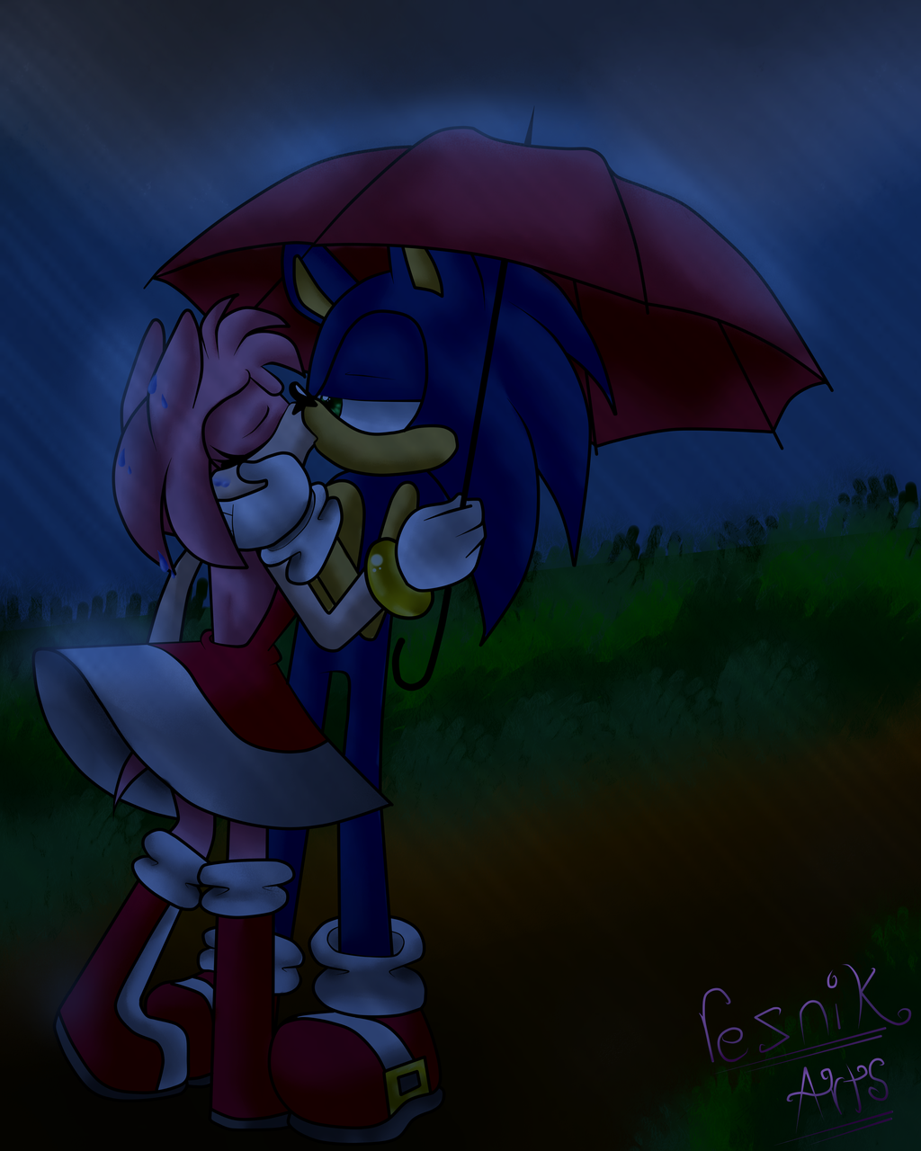 In The Rain By RezFrosting On DeviantArt