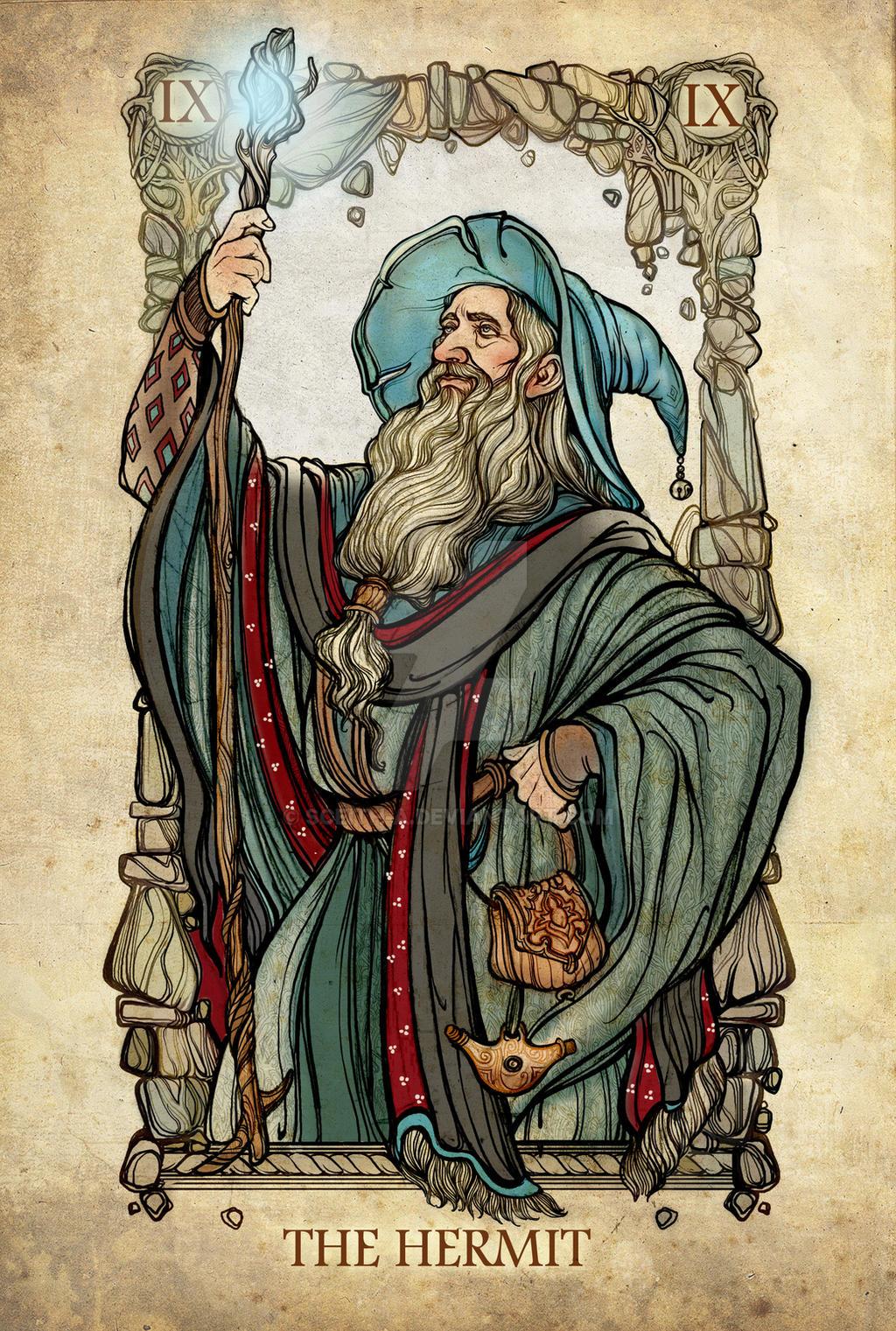 Tarot: The Hermit by SceithAilm