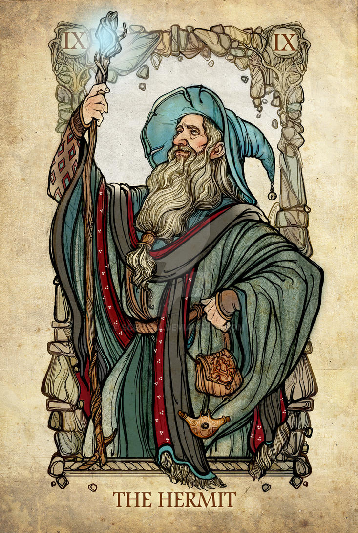 The Hermit Tarot Card Meaning In Readings Isolation: Tarot: The Hermit By Sceith-A On DeviantArt
