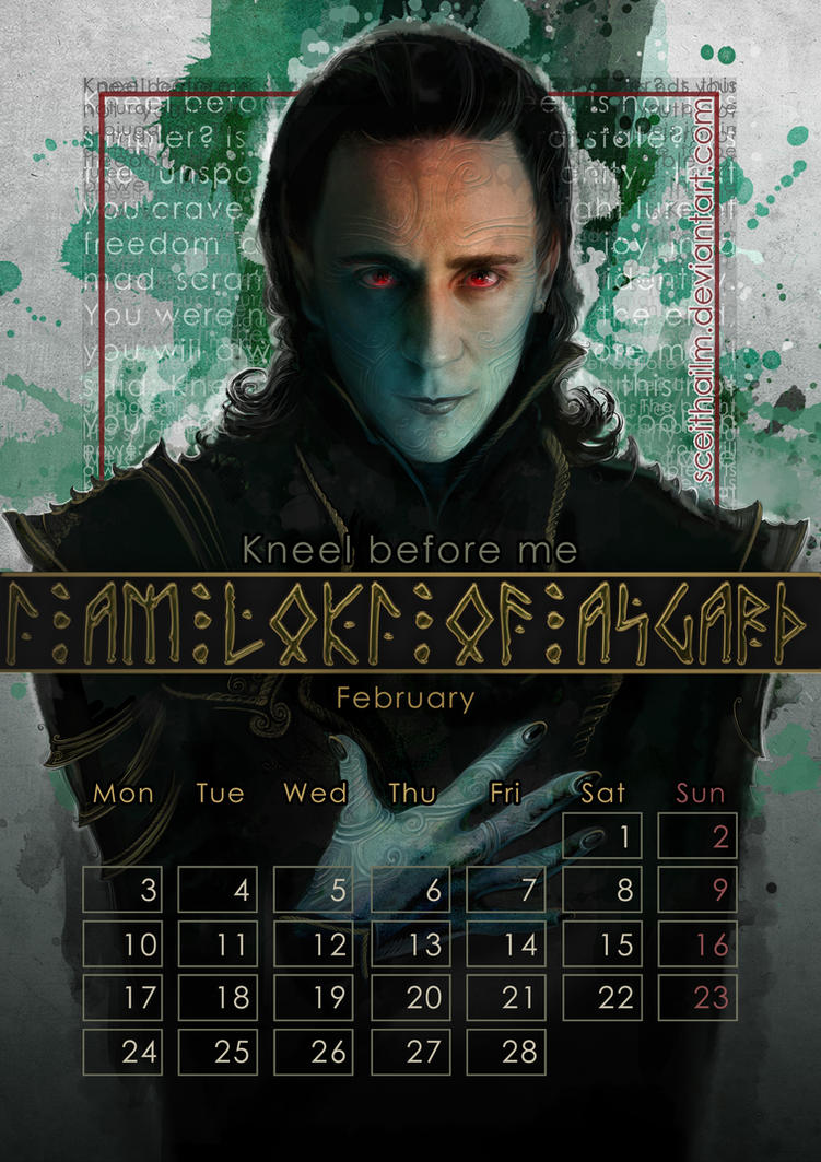 Geek Calendar 2014: February by SceithAilm
