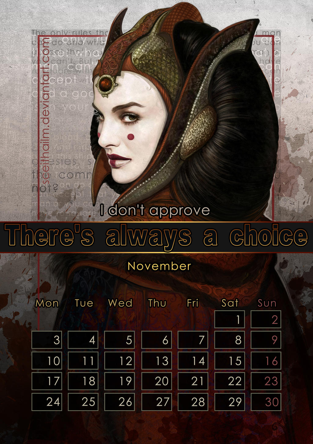 Geek Calendar 2014: November by SceithAilm