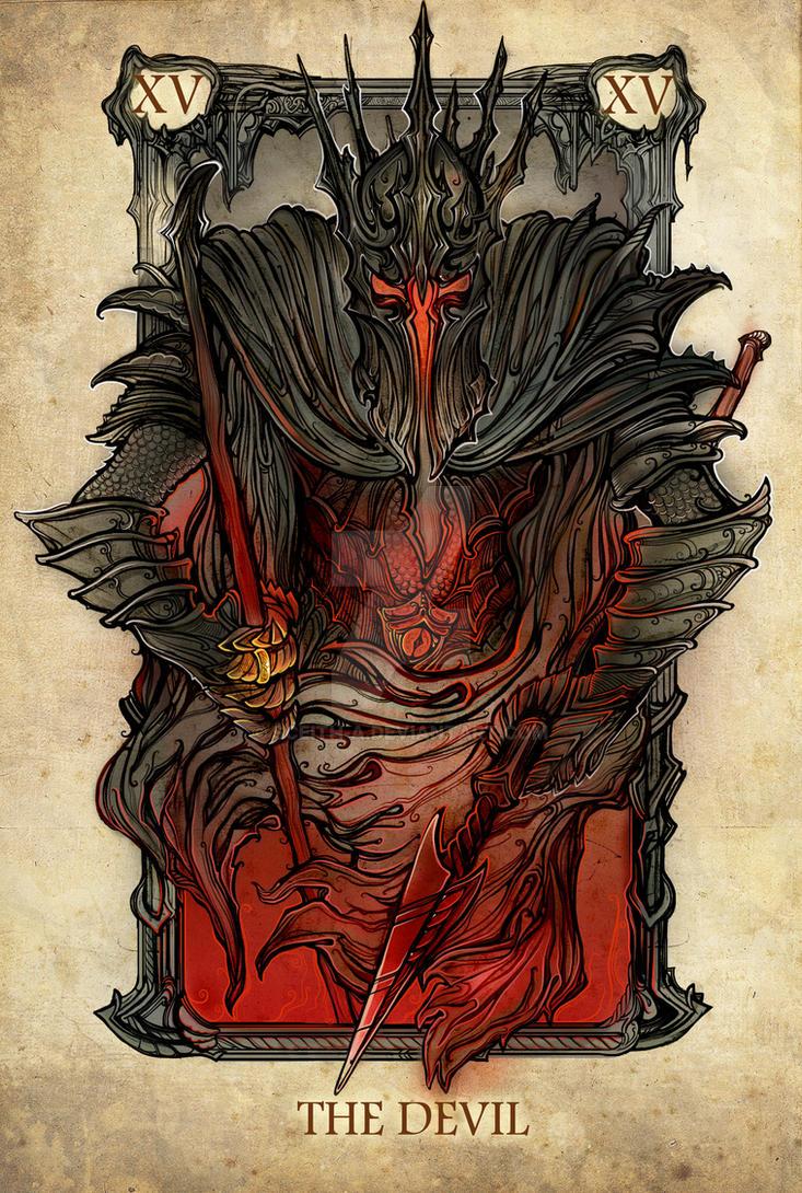 Tarot: The Devil by SceithAilm