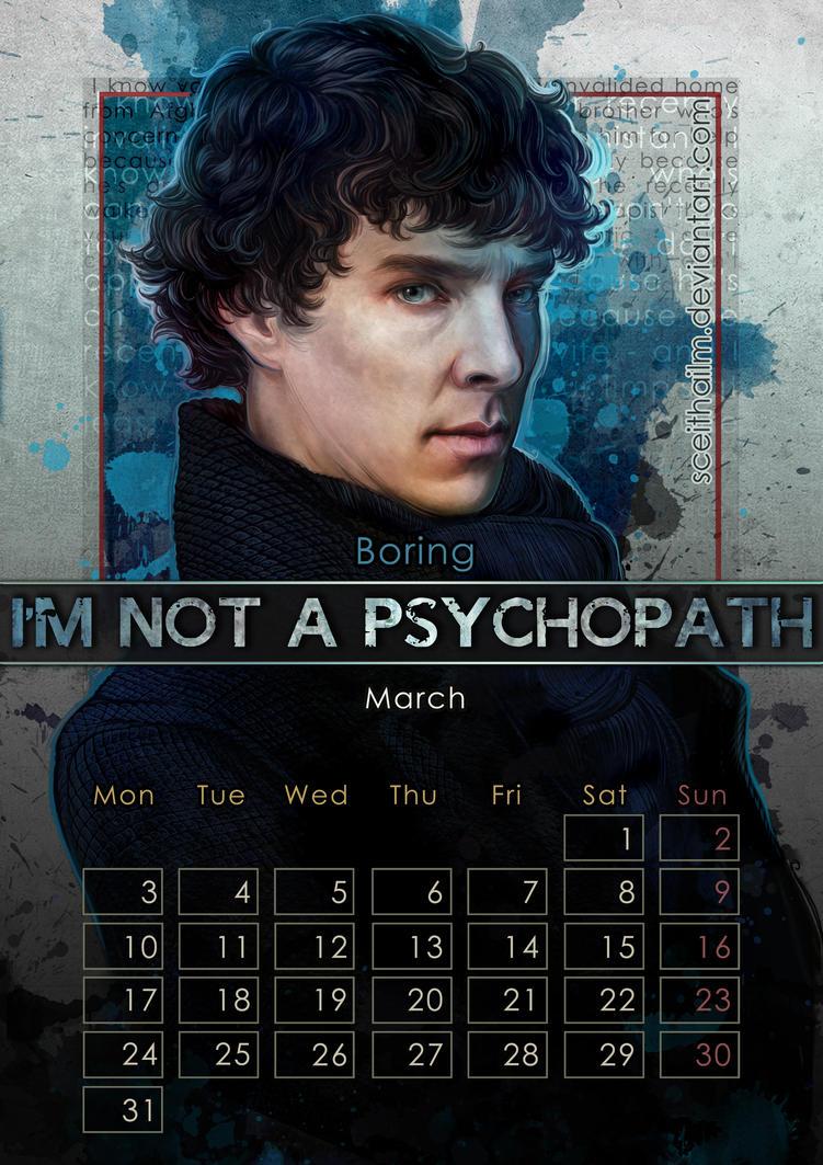Geek Calendar 2014: March by SceithAilm