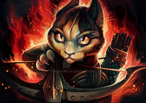 Catnip Everdeen (Catamancer art)