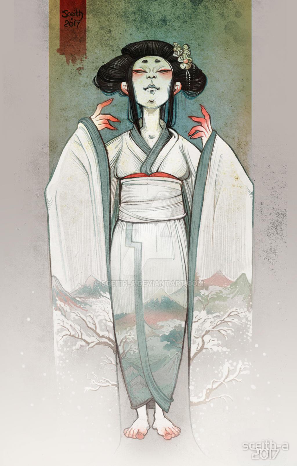 Yuki-onna by Sceith-A