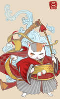 Neko-warrior by Sceith-A