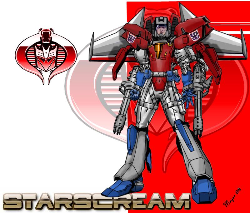 Starscream Cyborg- Face Shield by skywarp-2