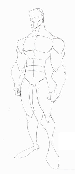 Animated Male Body Sketch 1