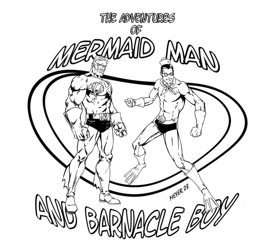 Mermaid Man T-Shirt Rub-on by skywarp-2 on DeviantArt