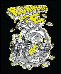 Running on E: Sci-Fi T-Shirt Design