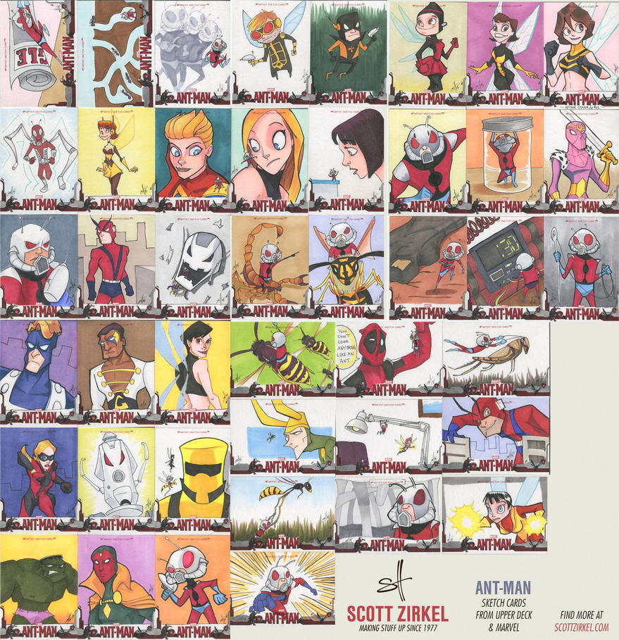 Ant-Man Sketch Cards by scottzirkel