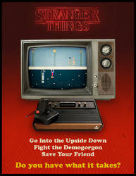 Stranger Things Atari Ad
