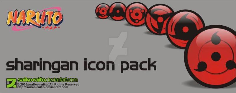 naruto sharingan icon pack by saiko-raito