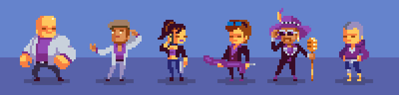 Saints Row The Third Characters Pixel Art