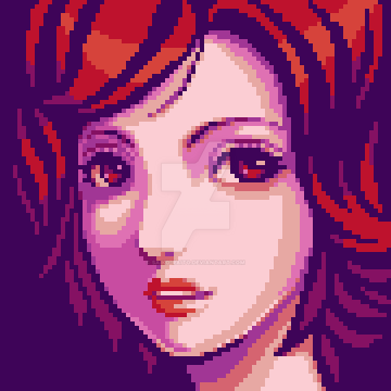 Pixel Portrait Girl by saiko-raito