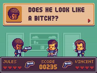Pulp Fiction Pixel game Mockup