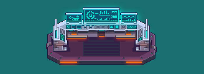 Control Panel Pixel Art