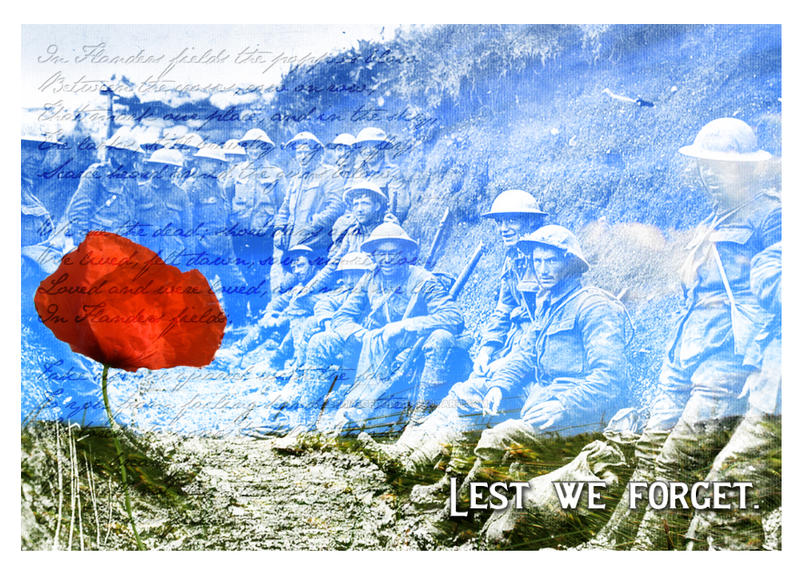 Lest We Forget/Remembrance Day '13 by zephyrofgod