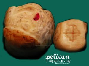 pelican - tagua carving