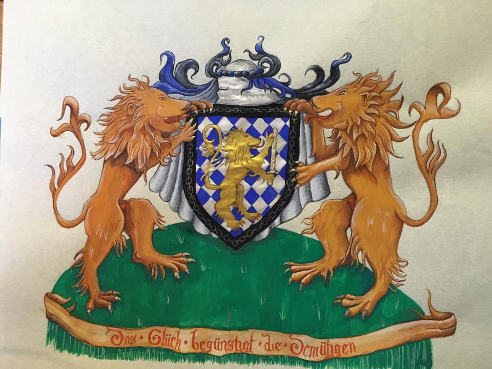 Thaddeus' Achieivement of Arms by zephyrofgod